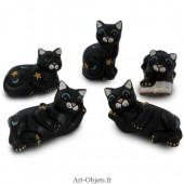 Chats Noirs - 5 Attitudes