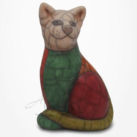 Chat assis élégant - Raku