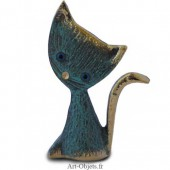 Chat  Grosse Tête - Bronze Bleu