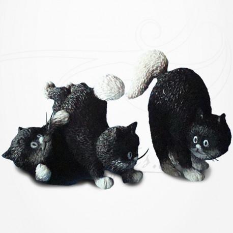 Chat Dubout - Les jours heureux, les petits en noir
