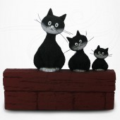 Chat Dubout - Le trio