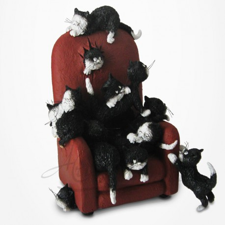 Chat Dubout - Garde-moi une place!