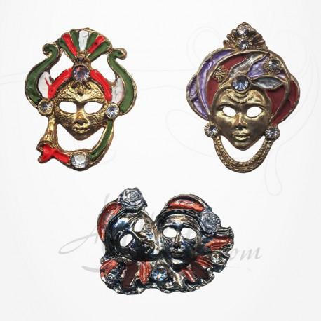 Masque de Venise - 3 Magnets Etain