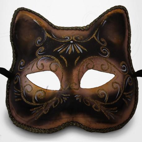 Masque Vénitien - Masque Chat Noir et doré