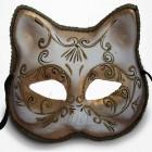 Masque Vénitien - Masque Chat Blanc et doré