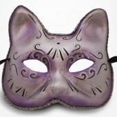 Masque Vénitien - Masque Chat Violet et argenté