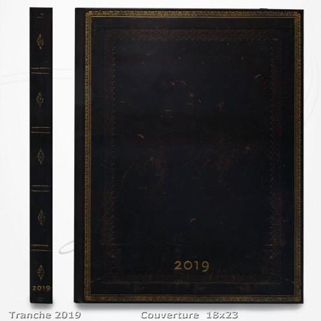 Agenda 2019 - Noir Marocain 18x23 - Une Semaine sur deux Pages