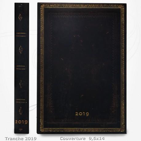 Agenda 2019 - Noir Marocain 9,5x14 - Une Semaine sur Deux Pages