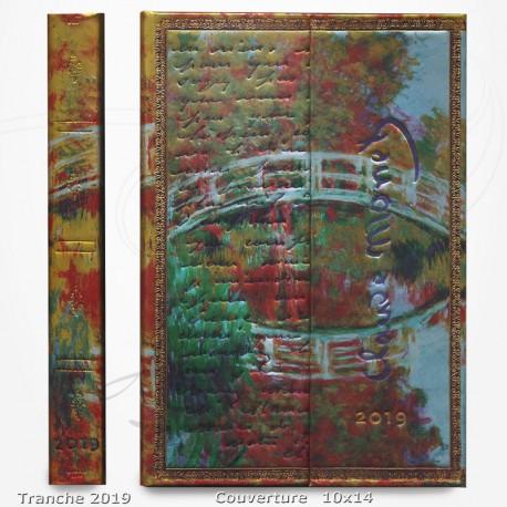 Agenda 2019 - Monet, Le Pont - Lettre à Morisot 10x14 - Une Semaine sur Deux Pages