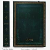 Agenda 2019 - Vert Viridian 13x18 - un Jour par Page