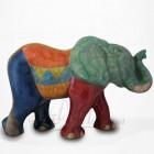 Éléphant marchant en Raku