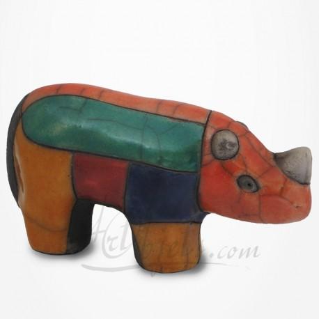 Rhinocéros en Raku