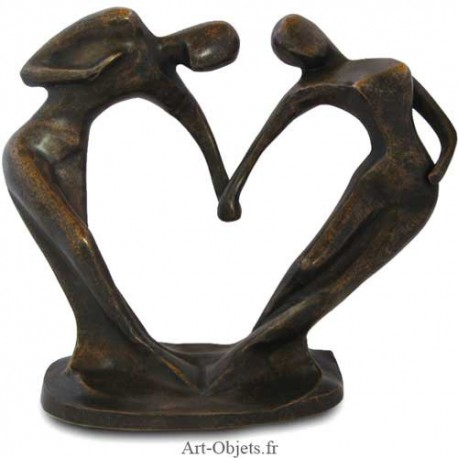 Statue Couple Coeur