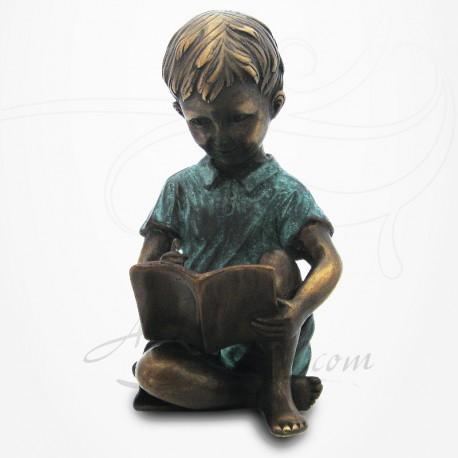 Statue Jeune Garçon écrivant
