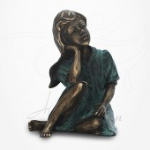 Statue Jeune Fille assise