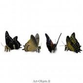 Figurine Miniature - 4 Papillons - Porcelaine