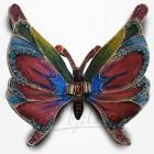 Boîte à secrets Papillon - Métal émaillé avec strass