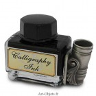 Calligraphie - Encrier Porte plume - Verre Rectangulaire