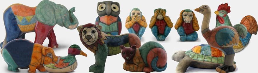 Figurines Raku
